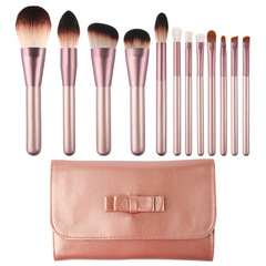 12 pcs Luxury Makeup Brushes Set Foundation Powder Blush Eyeshadow brush lip Cosmetics Beauty Tools color B