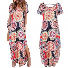 Women Dress 2019 Summer Sexy Shoulder Floral Print Dress Short Party Beach Dresses black s