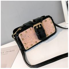 High quality Handbags Women's Cross body Bags Messenger Shoulder Bag for Women Shining Silver bling 1 20*10*5 CM