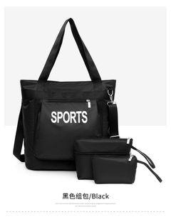 Free Shipping New Nylon Travel Bag set Unisex Large Capacity Bag Luggage Women WaterProof Handbags black one set