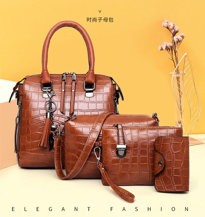 Women Hand Bags Purses And Handbags Sets Ladies Crossbody Bags For women 2019 Leather Bags fashion red one set