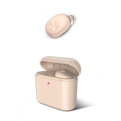 Bluetooth headset Wireless Bluetooth Headset Invisible Mini Bluetooth Headset with Charging Box Pale brown