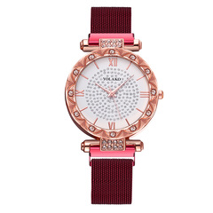 6colours Time-limited special Star Women Watch Imitation diamond International fashion temperament NO.3 Style