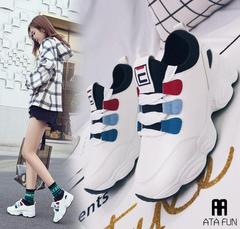 2019 Spring Women Sneakers lady Shoes Fashion sport Women Shoes Flats Platform Autumn Women Athletic white 36(uk4.5)