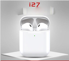 Bluetooth Headsets Wireless Sports Earphone with Cute Charge Box HiFi Good Sound  Upgraded i7  i27 i27 one size