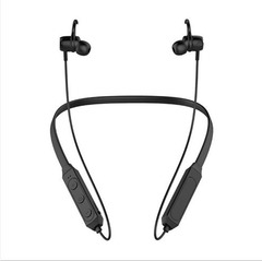 H27 Sports Bluetooth Headphones Neck-mounted New Neck Metal Magnetic Subwoofer Stereo Card Earphone black one size