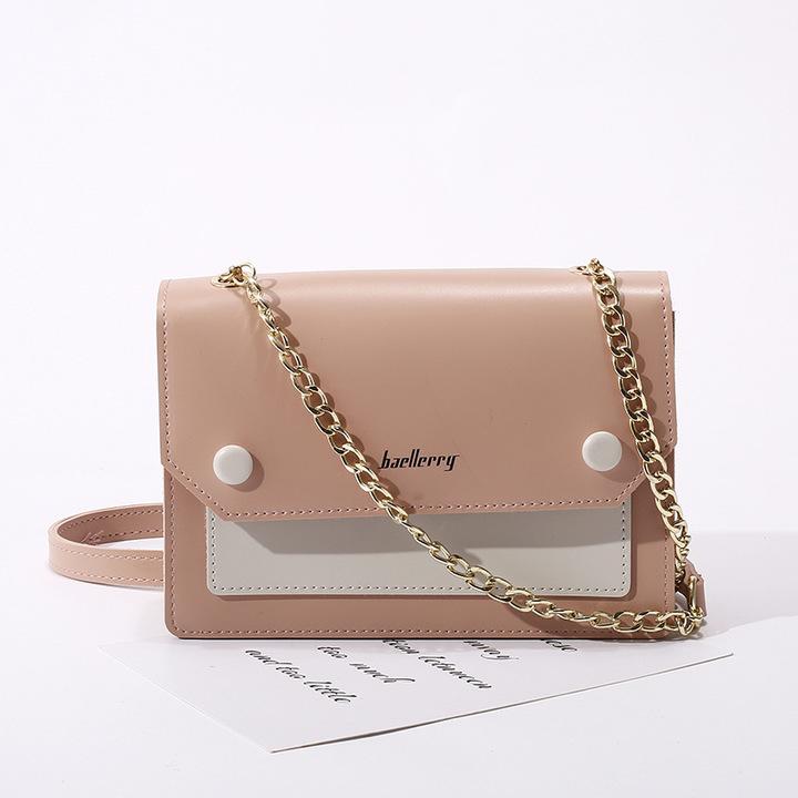 Women's fashion single shoulder bag, cross-body bag,women's bags, delicate handbag with metal chain pink 18*12*5cm 18cm 12cm 5cm