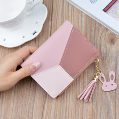 Short wallets for women, multi-function wallets, lady's purse and handbags, PU handbag for women pink 12 * 9 * 1.5 cm