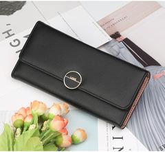 High-quality long lady's wallet,Women's hand purse , handbag for women,PU wallet, mobile phone bag black 20*10*3.5cm