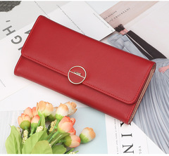 High-quality long lady's wallet,Women's hand purse , handbag for women,PU wallet, mobile phone bag Red 20*10*3.5cm