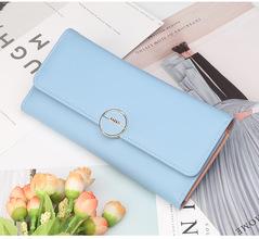 High-quality long lady's wallet,Women's hand purse , handbag for women,PU wallet, mobile phone bag blue 20*10*3.5cm