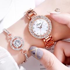 Fashion women's Watch Bracelet two piece women's simple watch white