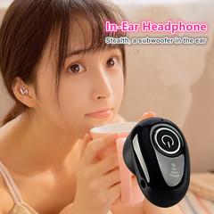 Invisible Earphones Wireless Bluetooth earphone In Ear Headset Bluetooth Headphone Earbuds for Sport white