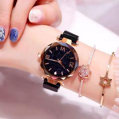 Luxury Magnetic Starry Sky Women Watch Quartz Wrist Watch Female Clock Quartz Watch ladi Wristwatch black