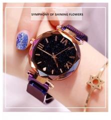 Luxury Magnetic Starry Sky Women Watch Quartz Wrist Watch Female Clock Quartz Watch ladi Wristwatch Purple