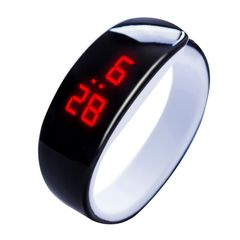 Dolphin LED Smart Watches Bracelet Watches Student Watch Sports Watch Wristwatch Silicon Watch black