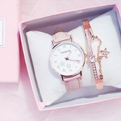 Fashion trend candy cat luminous watch waterproof watch lady watch girl watch women wrist watch pink