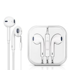 Wired Earphones Super Bass 3.5mm headphones Hands Free Earbuds with Mic For iphone samsung Huawei white
