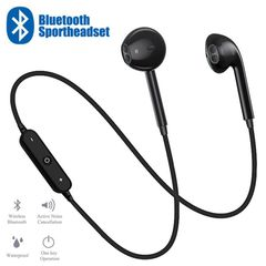 S6 Sport Bluetooth earphones Music Earbuds with Mic For All Phones samsung Huawei infinix iphone black