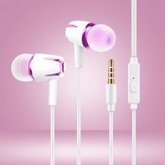 In-Ear Wired Earphone Heavy Bass Sound Stereo Music Headphones Sport Headset For Samsung HUAWEI rose