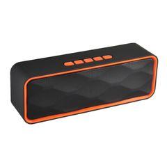 SC211 Bluetooth Speakers Portable woofer Hi-Fi Loudspeaker Support TF AUX USB FM orange normal