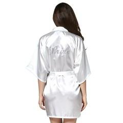 bridesmaid Robe Wedding Bride Women Sleepwear nightwear White Bridal Dress Bathrobe Night dress Sleepwear Nightgown Home Wear