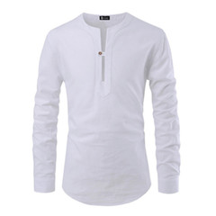 A new fashion slim, long-sleeved T-shirt for fall 2019 white S