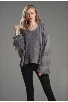 Tasu OL commuting solid color ins fashion hot style 2019 knits, pullovers gray S