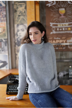 Autumn 2019 new loose pure color temperament commuting turtleneck knitwear, sweaters gray s