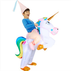 Halloween dinosaur tianma unicorn, pony inflatable costumes adult children cartoon animal props children(110cm-140cm) all code