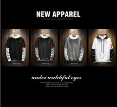 Cool sweatshirts, hip hop patchwork long-sleeved jumpers, contrasting hoodies (high quality) white 5xl