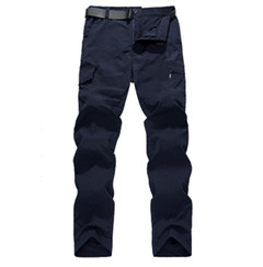 Breathable lightweight waterproof quick-dry casual pants, army style pants, tactical overalls dark blue m