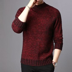 2019 new fashion brand pullover, semi-turtleneck slimming pullover, knitting fall casual men's wear coffee xxxl