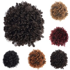 Explosive head fake hair bag, fluffy small curl, caterpillar hair bag(Black Friday) brown hot style, it sells like hot cakes