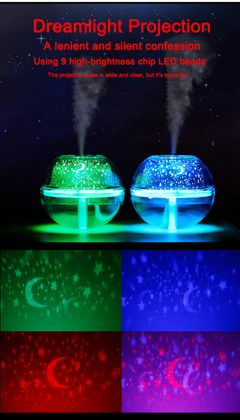 SaengQ USB air noctilucent humidifier with color LED silent aromatic atomizer diffuser silver 13.6cm * 13.6cm * 12cm