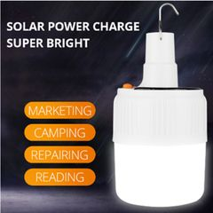 Rechargeable LED bulb solar rechargeable portable night market outdoor camping lamp Small size-no solar 50 meters beam 14W-42W