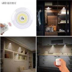 New adjustable LED remote control battery operated cabinet lamp wardrobe bathroom lighting 5 Lamp bead(White suit) 30 meters beam 3w