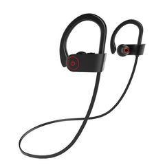 Bluetooth Earphones Headset 360 Degree Rotatable Hook Wireless Sports Earpiece HiFi Stereo Headphone black