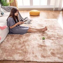 Living room plush carpet gradient ramp carpet bedroom carpet tea table blanket bed carpet window mat light coffee 50*80cm