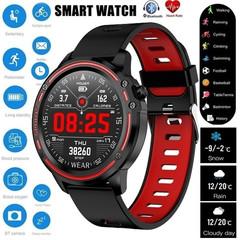 2019 New Men Smart Watch IP68 Waterproof Heart Rate Blood Pressure Blood Oxygen Monitor black