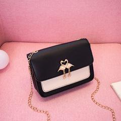 Fashion Women handbags Cross Body bag Ladies Chain bag Swan bag houlder bag phone bag Tote bag Black 18*5.5*14cm