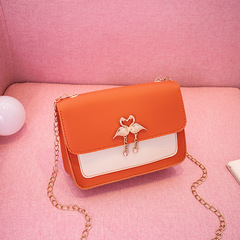 Fashion Women handbags Cross Body bag Ladies Chain bag Swan bag houlder bag phone bag Tote bag Orange 18*5.5*14cm