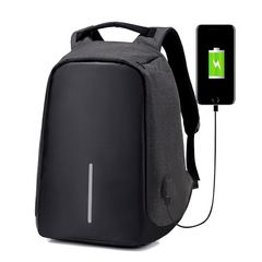 Fashion USB backpack Charger Anti theft Backpack Travel Laptop Backpack waterproof for men and women Black 45*28*11cm