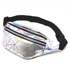 Fashion Waist bag Men women chest bag cross body chain bag sports bag popular chest pack sliver One size
