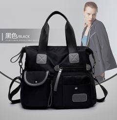 Fashion women handbags Large capacity Travel bag Nylon Waterproof handbag female diagonal bag black one size