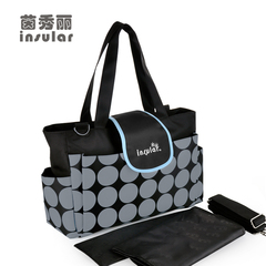 Mommy shoulder bag Brand Nappy Bags Fashion Mother Backpack 833# Black 35x14x30cm