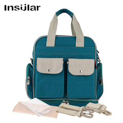 Multi-function backpack large capacity bag Mummy bags waterproof 10053# Turquoise 31.5*15*33cm
