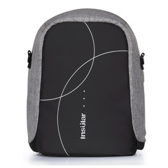 2019 Anti-theft diaper backpack nylon large capacity bags 10076# Gray 30*12*37cm