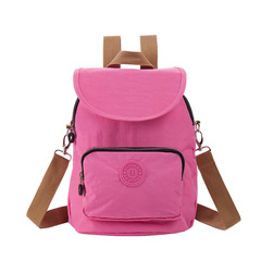 2019 New Light backpack with Large Capacity Travel Mummy Bag 20018# Pink 22.5*15*29.5cm