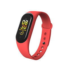 Bluetooth M4 Smart Bracelet Heart Rate Monitor Fitness Pedometer USB Rechargeable Watch Wristband black